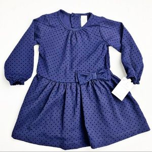 NWT Carter's Baby Girl Navy Dress Size 18 Months